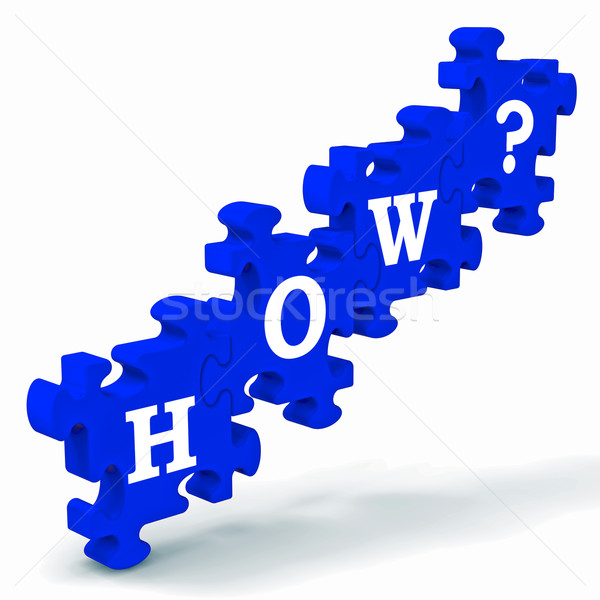 How? Puzzle Shows Different Ways To Solve Problems Stock photo © stuartmiles