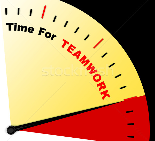 Time For Teamwork Message Represents Combined Effort And Coopera Stock photo © stuartmiles