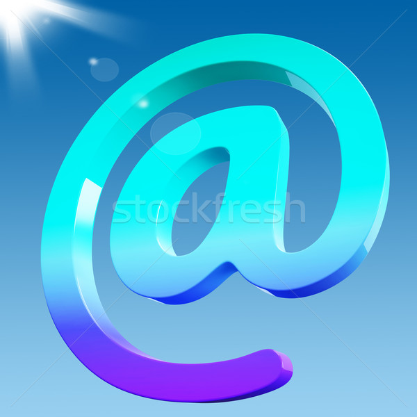 At Sign Shows Email Correspondence on Web Stock photo © stuartmiles