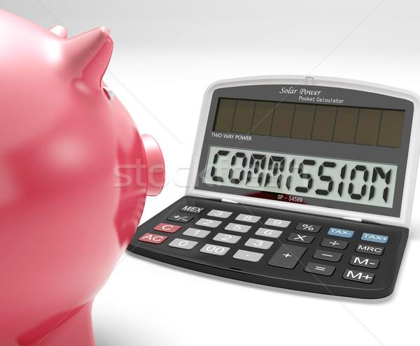 Commission Calculator Shows Bonus, Benefit Or Award Stock photo © stuartmiles