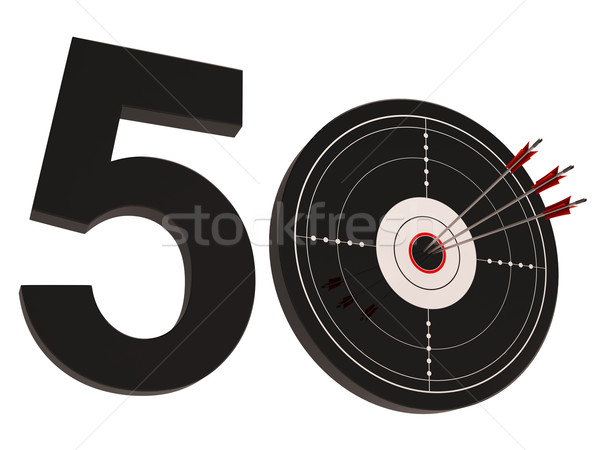 50 cible nombre cinquante ans Photo stock © stuartmiles