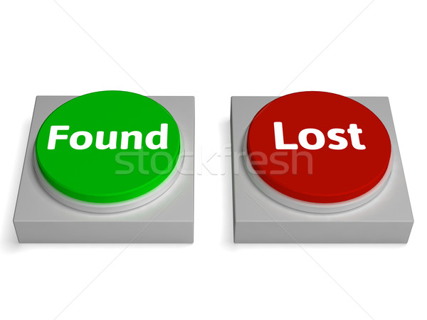 Lost Found Buttons Shows Hidden Or Discovery Stock photo © stuartmiles