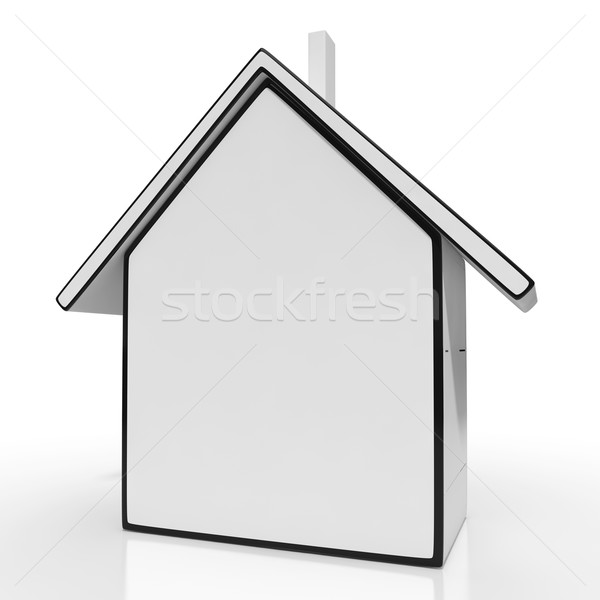 House Icon And Blank Space Showing Home For Sale Stock photo © stuartmiles