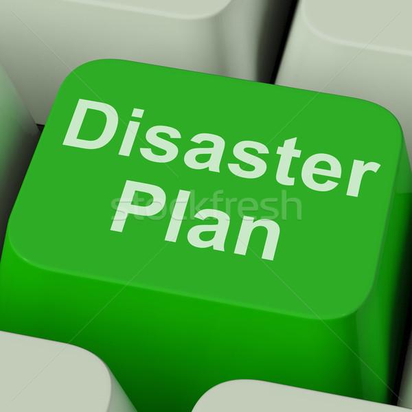 катастрофа плана ключевые чрезвычайных кризис защиту Сток-фото © stuartmiles
