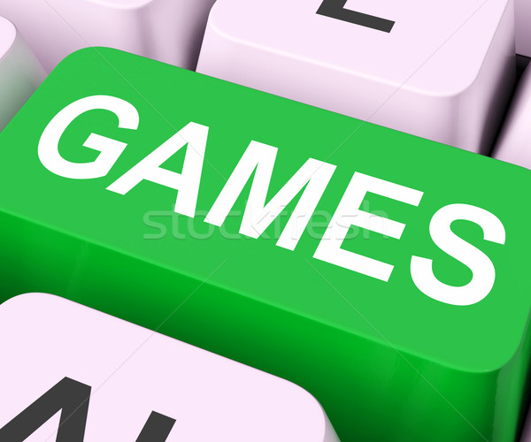 Games Key Shows Online Gaming Or Gambling Stock photo © stuartmiles