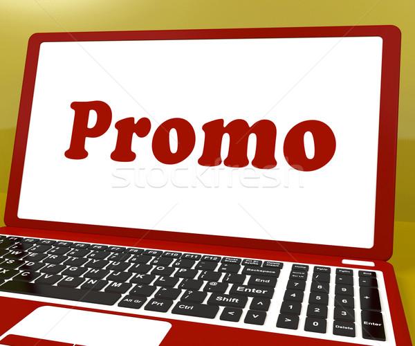 Promo computer promozione internet laptop Foto d'archivio © stuartmiles