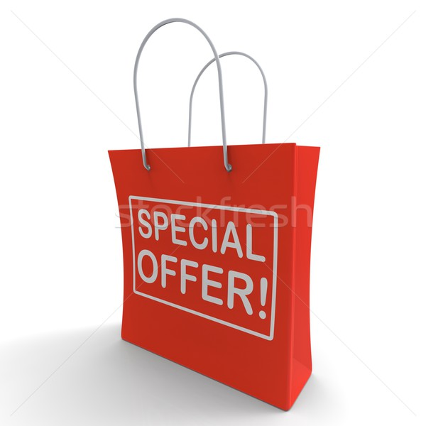 Special Offer Shopping Bag Shows Bargain Stock photo © stuartmiles