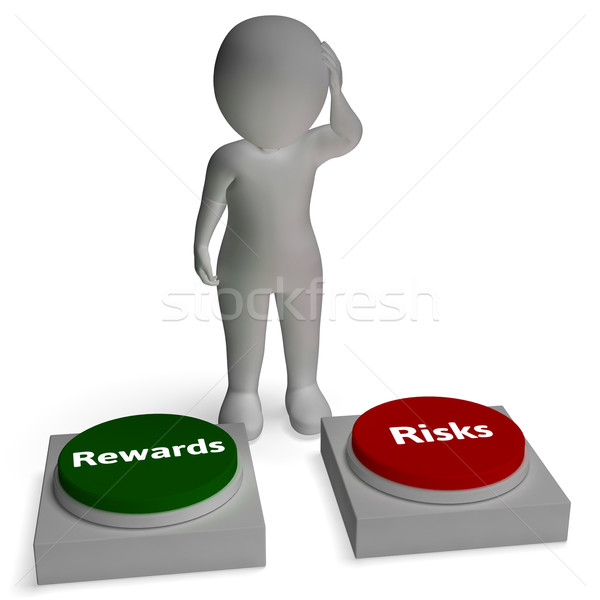 Risk Reward Buttons Shows Payoff Stock photo © stuartmiles