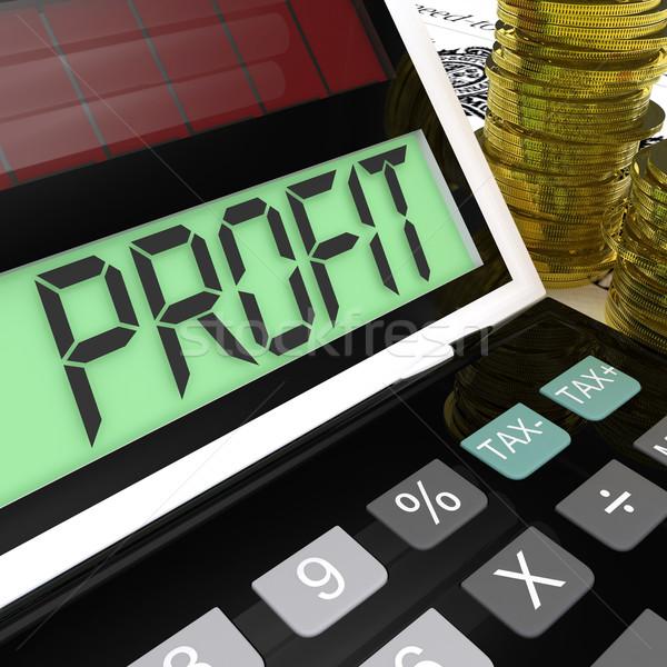 Winst calculator inkomsten tonen Stockfoto © stuartmiles