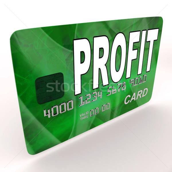 Beneficio crédito tarjeta de débito dinero tarjeta Foto stock © stuartmiles