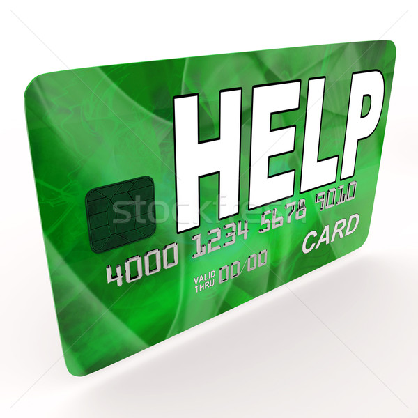 Help Bank Card Means Financial And Monetary Contributions Stock photo © stuartmiles