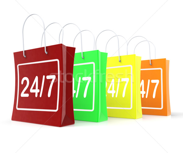 Vinte quatro sete abrir Foto stock © stuartmiles