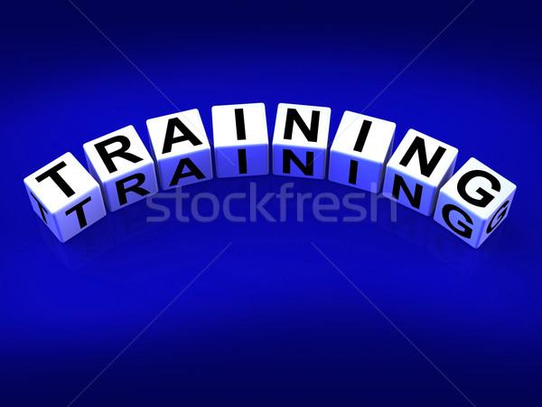 Training Blocks Mean Educating Coaching and Teaching Stock photo © stuartmiles