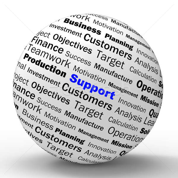 Support Sphere Definition Shows Customer Support Or Assistance Stock photo © stuartmiles