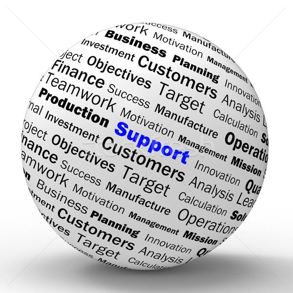 Apoiar esfera definição Foto stock © stuartmiles
