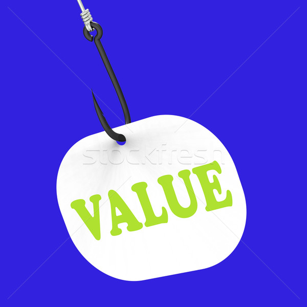 Value On Hook Shows Great Significance Or Importance Stock photo © stuartmiles