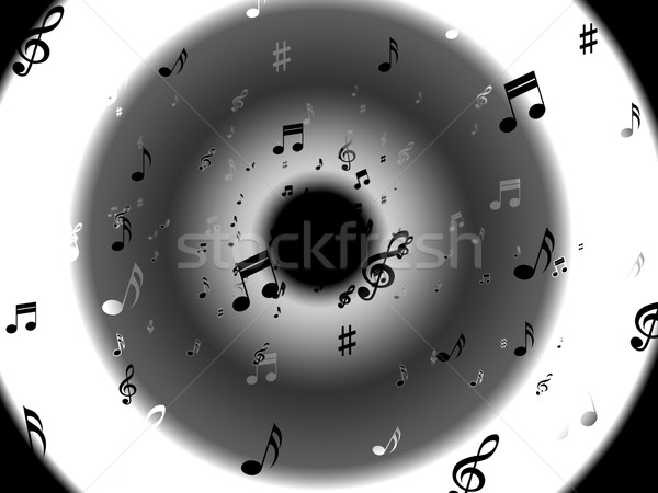 Musical Notes Background Shows Abstract Art And Melodies Stock photo © stuartmiles