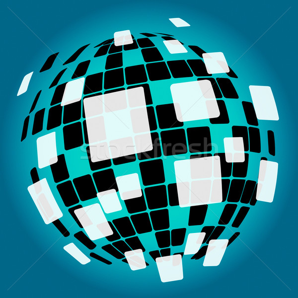 Modern Disco Ball Background Means Nightlife Or Discos Stock photo © stuartmiles