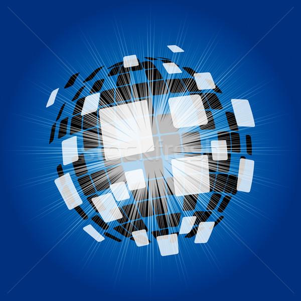 Moderne disco ball futuristische kunst behang betekenis Stockfoto © stuartmiles