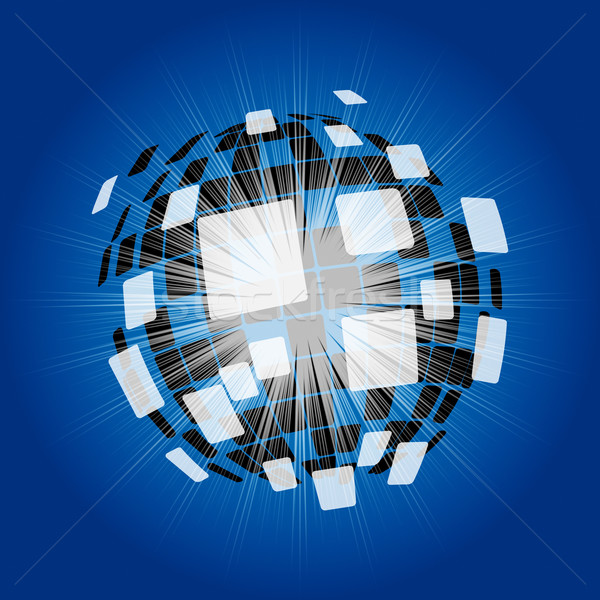 Modern Disco Ball Background Means Futuristic Art Or Wallpaper Stock photo © stuartmiles