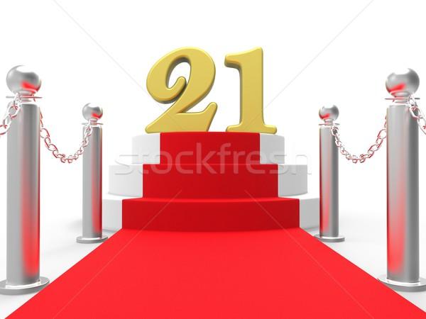 Golden Twenty One On Red Carpet Shows Entertainment Business Eve Stock photo © stuartmiles