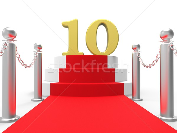 Golden Ten On Red Carpet Shows Film Industry Awards And Prizes Stock photo © stuartmiles