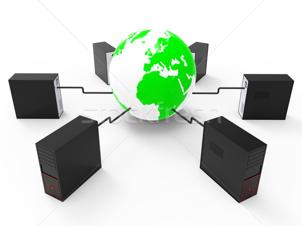 World Wide Network Represents Web Site And Computer Stock photo © stuartmiles