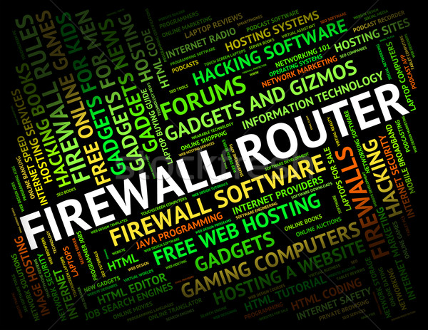 Firewall Router Represents Word Protect And Routing Stock photo © stuartmiles