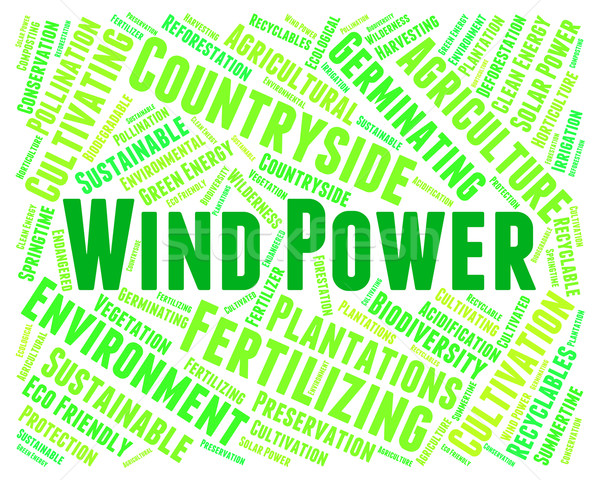 Wind Power Shows Renewable Resource And Electric Stock photo © stuartmiles