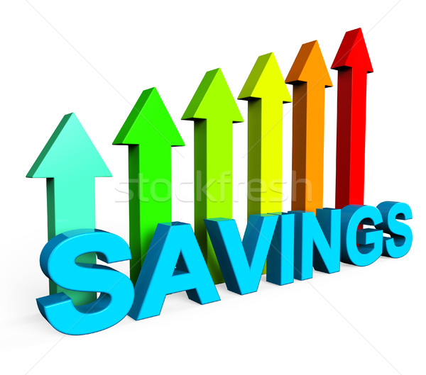 Savings Increasing Indicates Financial Report And Advance Stock photo © stuartmiles
