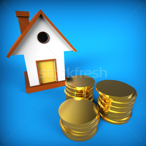 Real Estate Mortgage Shows Pre Payment And Building Stock photo © stuartmiles