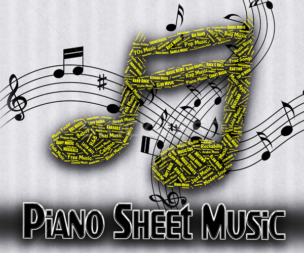 Piano Sheet Music Means Sound Tracks And Harmony Stock photo © stuartmiles