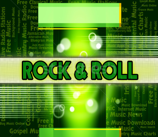 Rock And Roll Indicates Sound Tracks And Audio Stock photo © stuartmiles