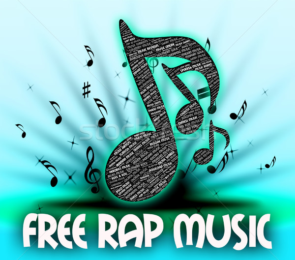Stock photo: Free Rap Music Shows No Cost And Acoustic