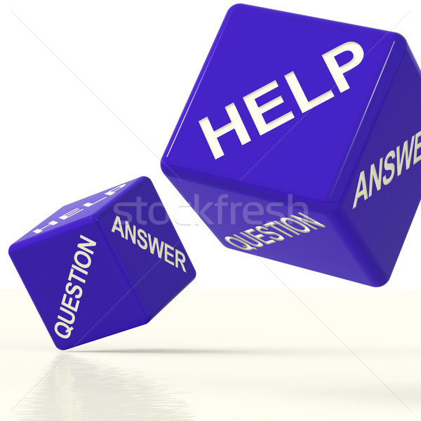 Question Answer And Help Dice As Symbol For Support Stock photo © stuartmiles