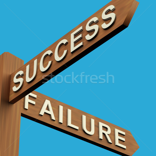 Success Or Failure Directions On A Signpost Stock photo © stuartmiles