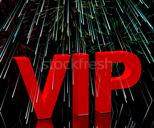 VIP Word With Fireworks Showing Celebrity Or Millionaire Party  Stock photo © stuartmiles