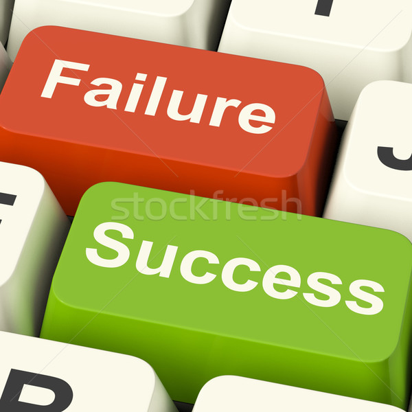 Success And Failure Computer Keys Showing Succeeding Or Failing  Stock photo © stuartmiles