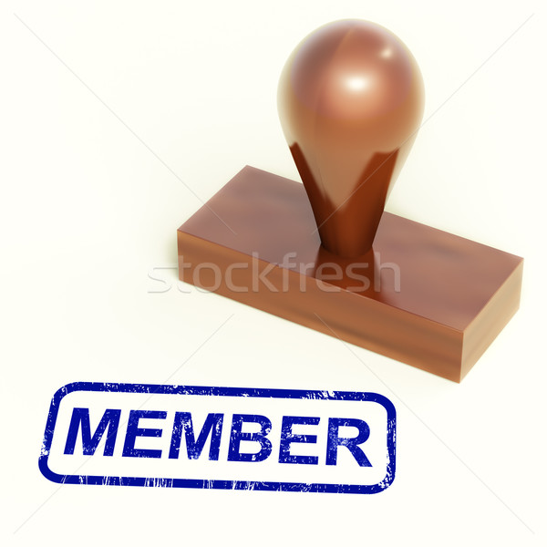 Member Rubber Stamp Shows Membership Registration And Subscribin Stock photo © stuartmiles
