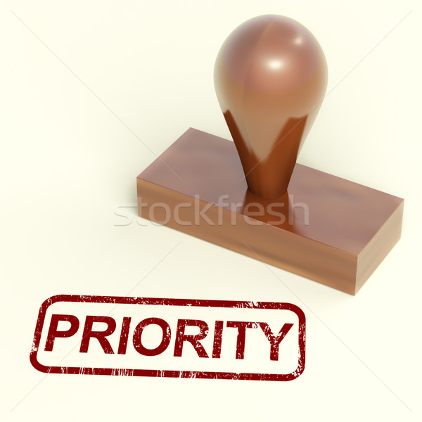 Priority Rubber Stamp Shows Urgent Rush Delivery Stock photo © stuartmiles