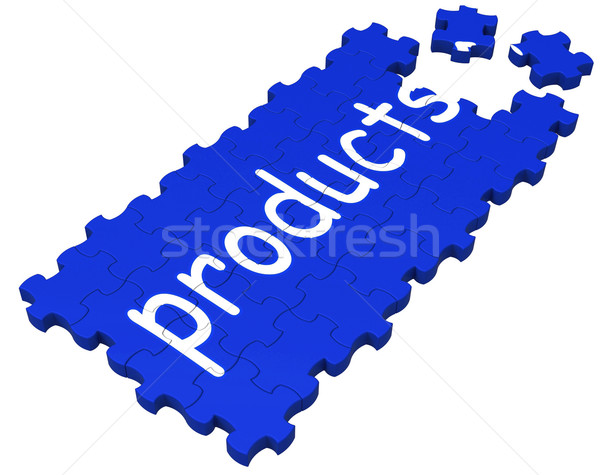 Products Puzzle Shows Shopping Or Merchandise Stock photo © stuartmiles