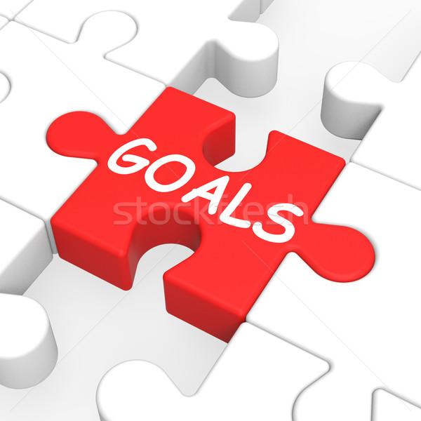 Obiettivi puzzle aspirazione futuro obiettivo Foto d'archivio © stuartmiles