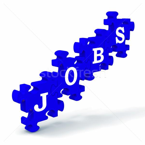 Jobs werk beroep werk roeping betekenis Stockfoto © stuartmiles