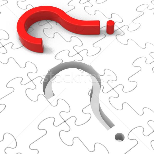 Question Mark Puzzle Shows Asking Questions Stock photo © stuartmiles