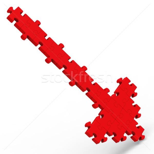 Seta indicação para baixo quebra-cabeça errado direção Foto stock © stuartmiles
