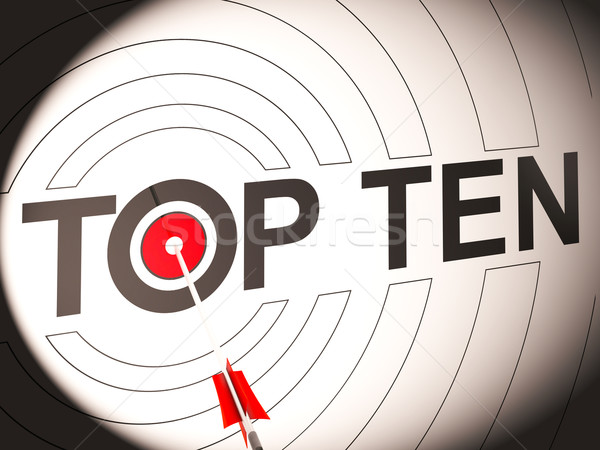 Top Ten Target Shows Special Rated Companies Stock photo © stuartmiles