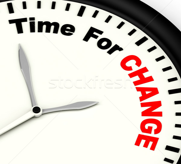 Time For Change Meaning Different Strategy Or Vary Stock photo © stuartmiles