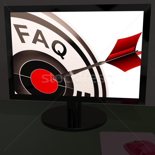 Faq suivre service clients Photo stock © stuartmiles