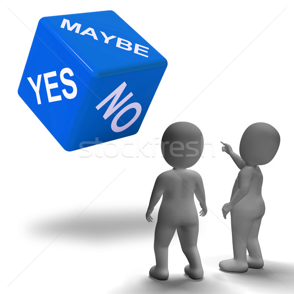Maybe Yes No Dice Represents Uncertainty And Decisions Stock photo © stuartmiles