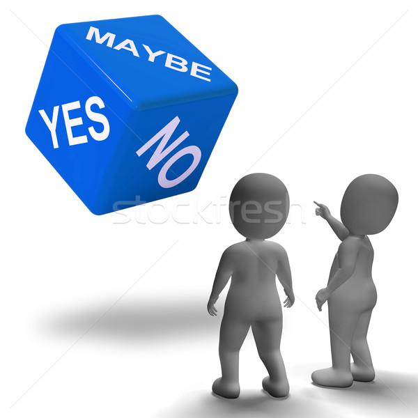 Ja keine Würfel Unsicherheit Entscheidungen Lösung Stock foto © stuartmiles